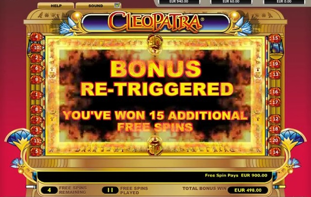 free spins cleopatra