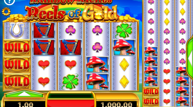 rainbow riches reels of gold irish themed slots online bingo reviews